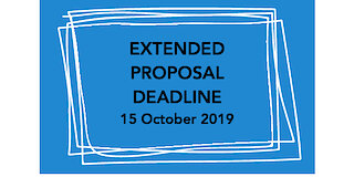 Extended Deadline for Proposals